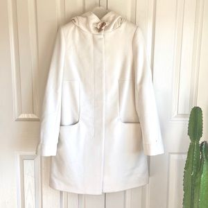 Aritzia Babaton Cream White Pearce Wool Coat Small